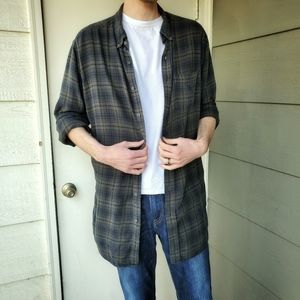 Green and Blue Comfy Cool Plaid Flannel | XLT